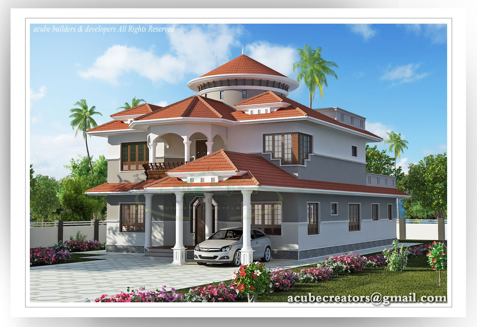 Beautiful Kerala House 2804 Sq Ft Plan 141