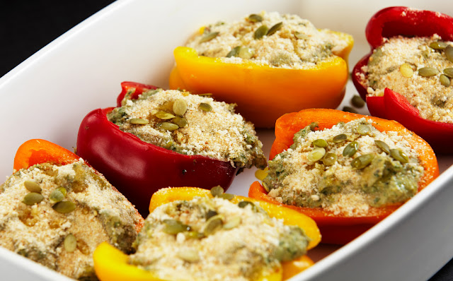 Stuffed Peppers with vegetables and mozzarella 1