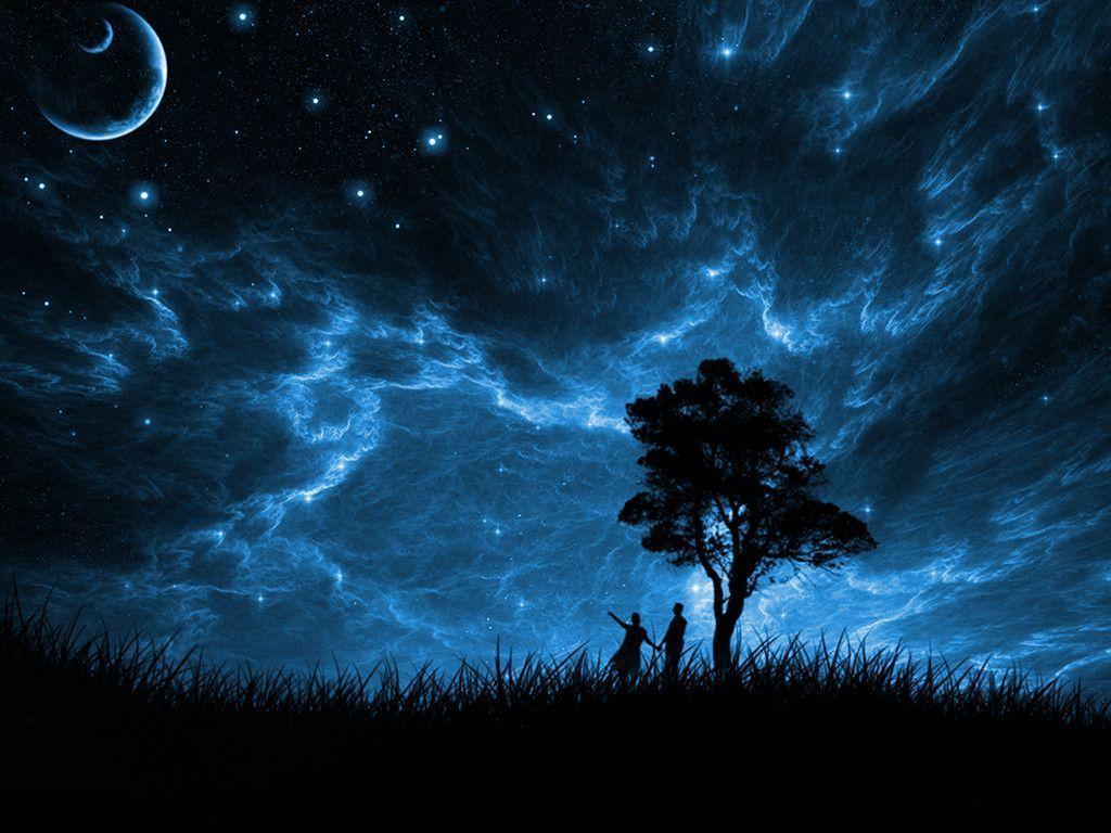 Night moon light photo