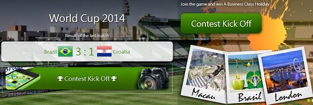 World Cup 2014 Brazil.com Contest - Win Free Trips & Prizes!