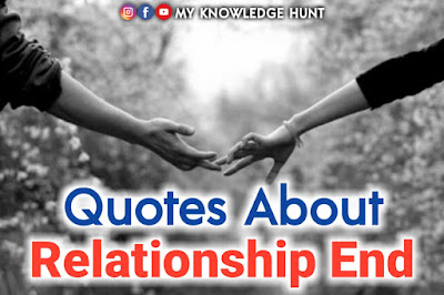 Quotes about relationship ending