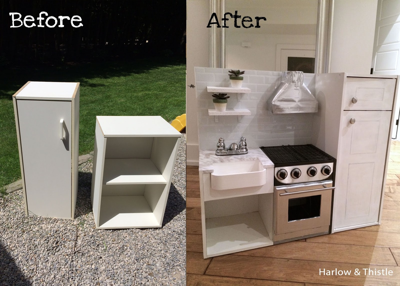 DIY Play Kitchen | Harlow & Thistle - Home Design - Lifestyle - DIY