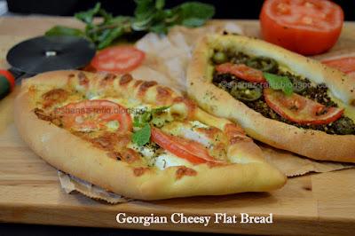 Flat Bread, Cheese Bread, Adjaruli Kachchapuri
