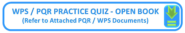 WPS / PQR PRACTICE QUIZ - OPEN BOOK