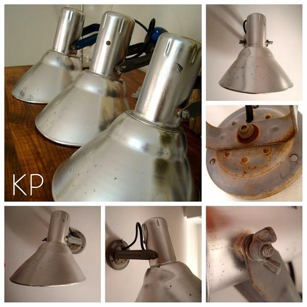 Focos y lámparas industriales. Apliques estilo industrial restaurados.