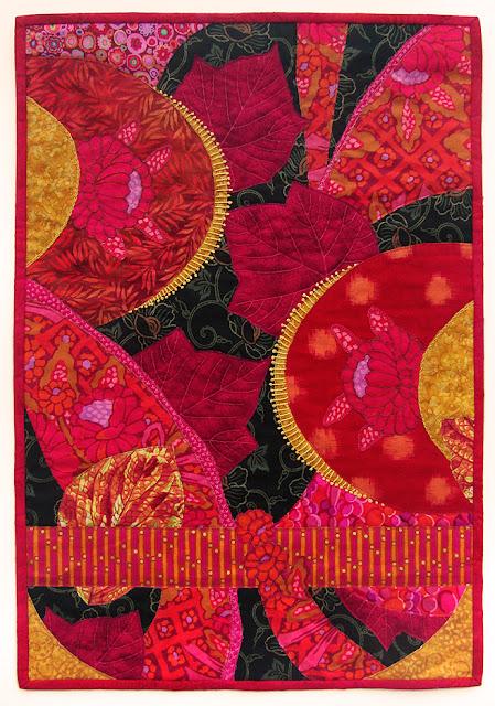 """Robin Atkins, """"Eclipse"""", scrappy improvisational quilt"""