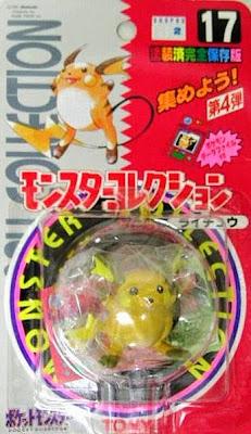 Raichu Pokemon figure Tomy Monster Collection series
