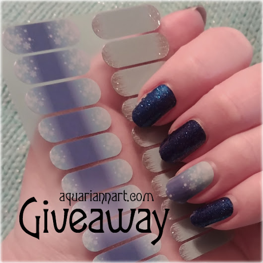 Jamberry Giveaway: Snow and Ice Nail Art