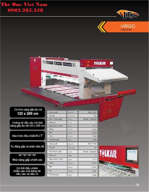 Chi tiết thông số máy gấp công nghiệp Tolkar