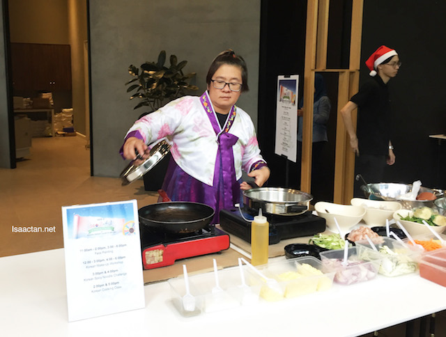 Korean food cooking demonstration