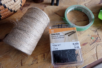 jute twine black panel nail painters tape