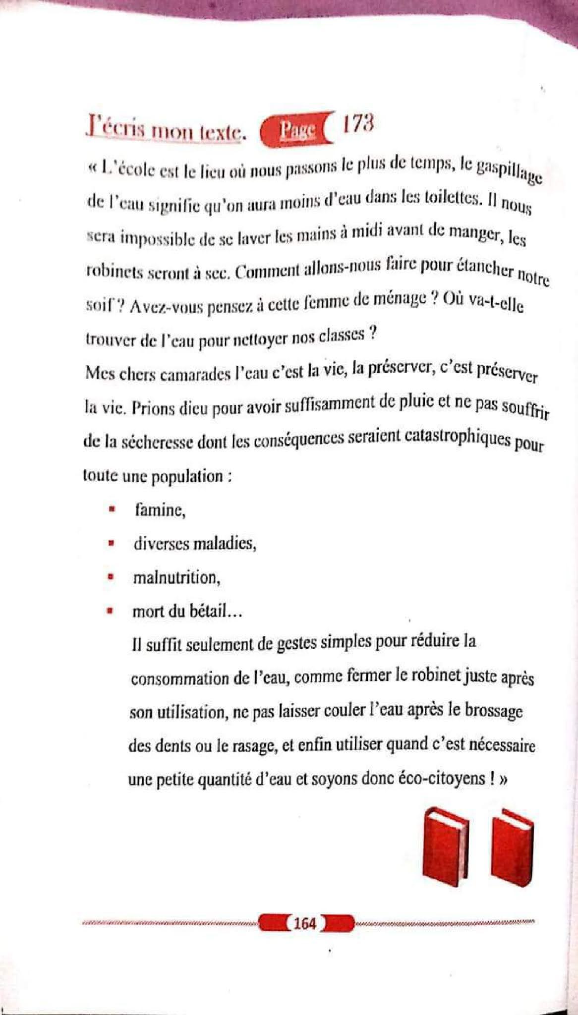 حل تمارين صفحة 173 الفرنسية للسنة الأولى متوسط الجيل الثاني