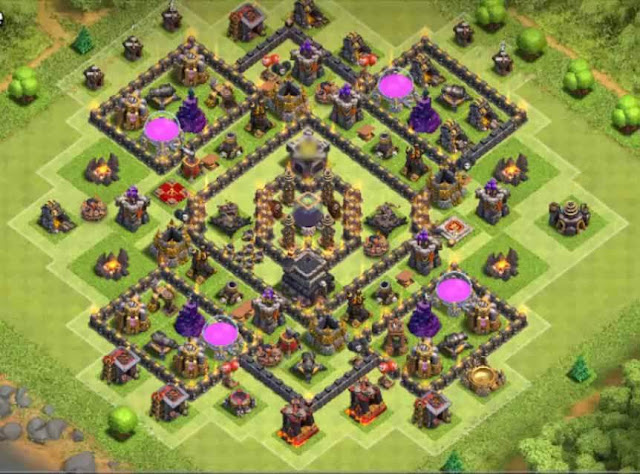 Base COC TH9 Farming 30