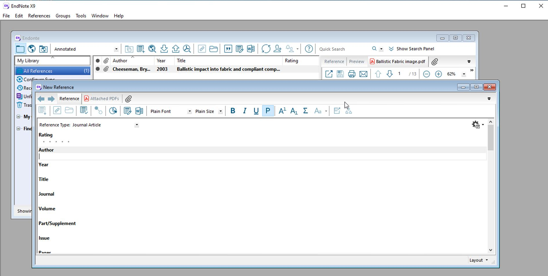 11. Reference Management by using EndNote