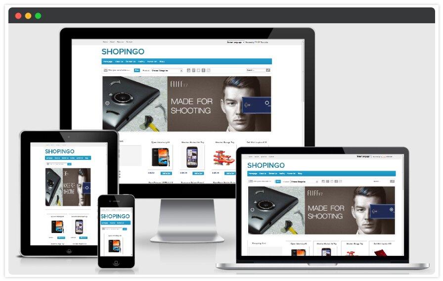 Shopingo Blogger Template