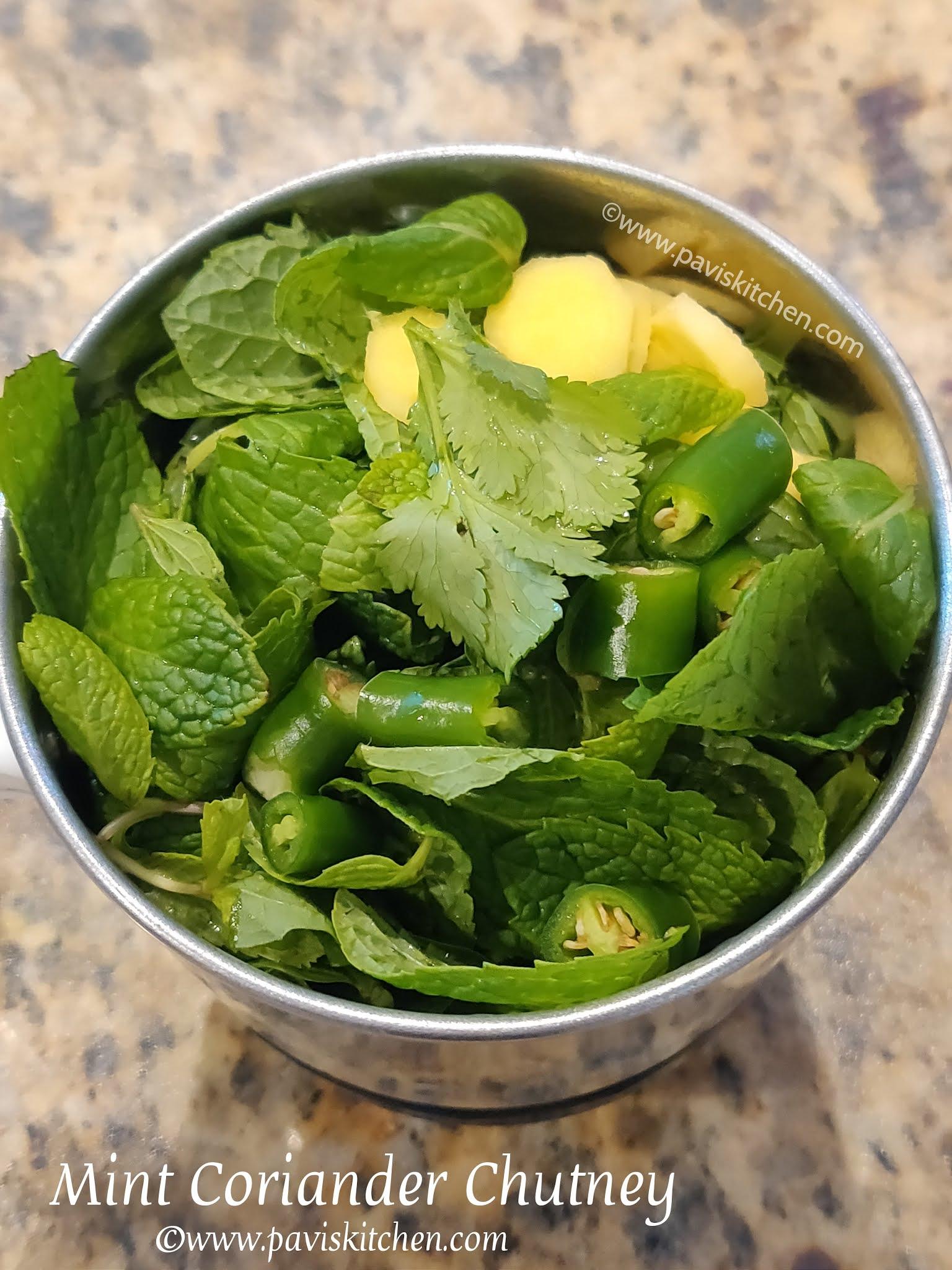 Mint coriander chutney recipe | Green chutney recipe for sandwich | Cilantro mint chutney recipe