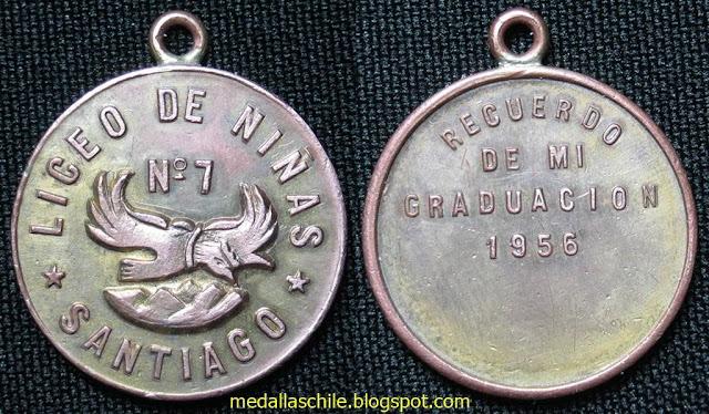 Medalla Graduación Liceo de Niñas N° 7