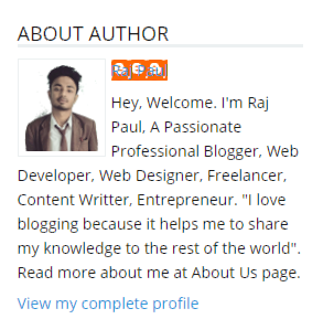 About author profile box
