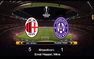 AC Milan vs Austria Wien 5-1