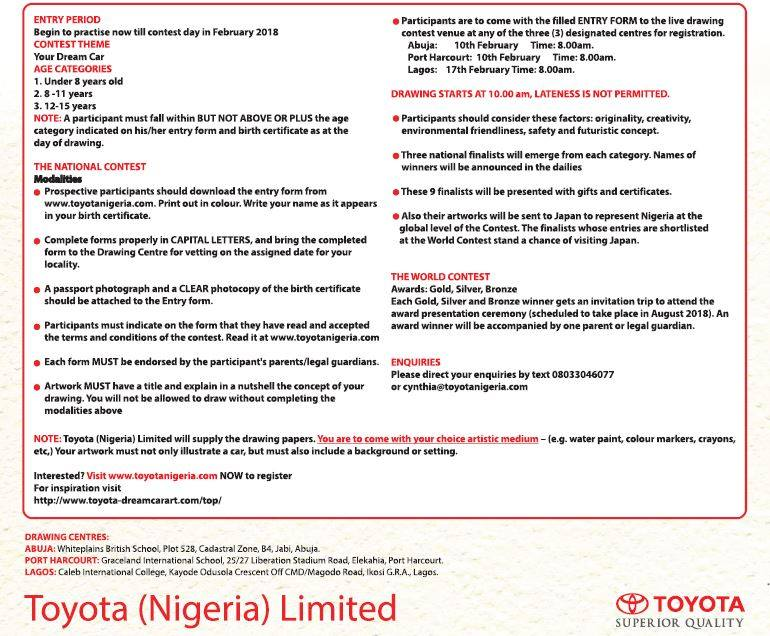 You Have Arrived Promos In Nigeria By Gloria The Th Toyota Dream