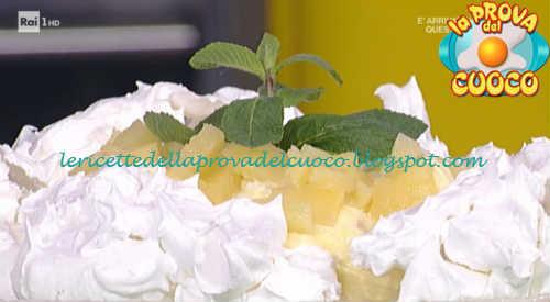 Torta pavlova con ananas ricetta Moroni da Prova del Cuoco