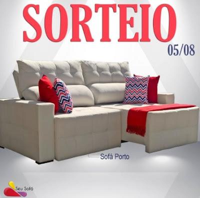 Loja Seu Sofá Sorteio Grátis Sofá Porto de Molas