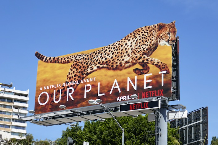 Cheetah Our Planet billboard