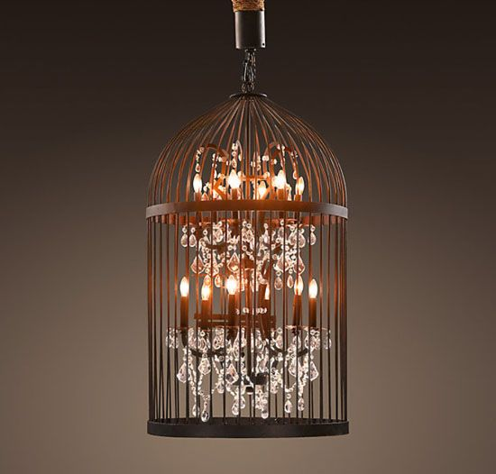Restoration Hardware bird cage chandelier