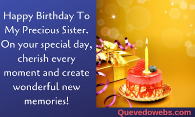 Birthday phrases for a Sister
