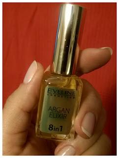 Eveline, Argan Elixir, Olejek do regeneracji skórek i paznokci 8 w 1