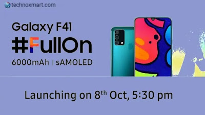 Samsung Galaxy F41 Launch Is Scheduled For October 8 In India; Will Feature Battery Capacity Of 6000mAh