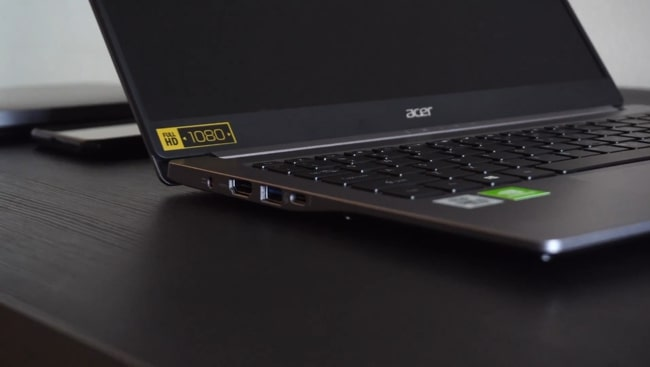 An all-metal build of this Acer Swift 3 SF314-57G laptop.