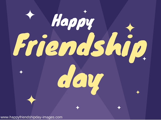 purple happy friendship day images