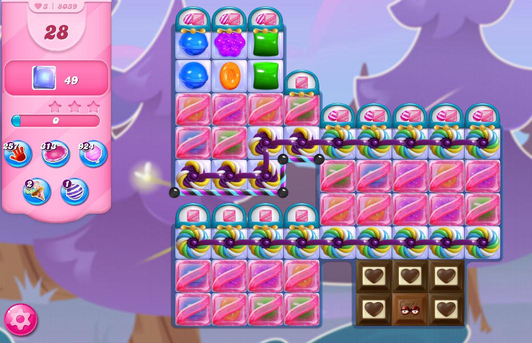 Candy Crush Saga level 8039