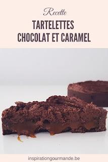 Recette des tartelettes chocolat et coeur coulant au caramel