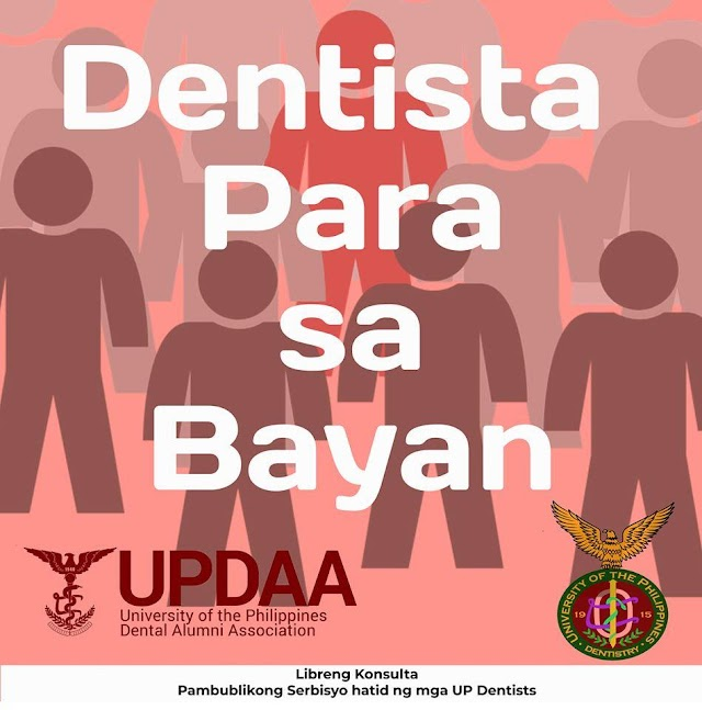 UPDAA & UPCD: Dentista Para Sa Bayan free online dental advice
