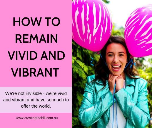 We are not our grandmothers and we're not invisible - we're vivid and vibrant and have so much to offer the world. Midlife is the best time of life #midlife