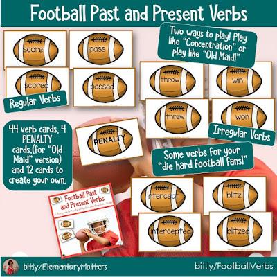 https://www.teacherspayteachers.com/Product/Football-Past-and-Present-Verbs-192586?utm_source=Elementary%20Matters%20Blog&utm_campaign=Football%20Past%20and%20Present%20Verbs