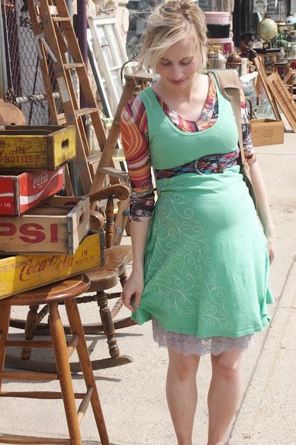 mint+swirl+organic+skater+dress - My Mint Swirl Skater Dress & A Thrift Trip