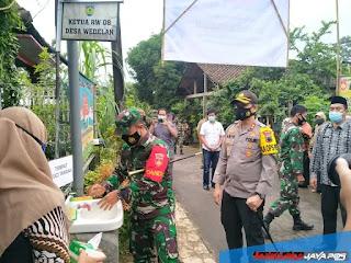 Dandim 0719/Jepara Bersama Kapolres Jepara Meninjau Lokasi Kampung Siaga Candi