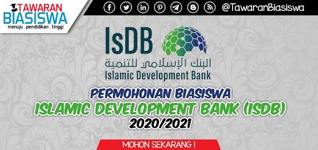 Permohonan Biasiswa Bank Pembangunan Islam (IsDB) Sesi 2020/2021