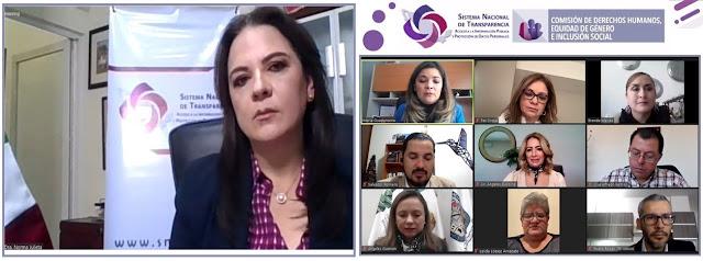 INAI coadyuvará en trabajos de comisión de derechos humanos, equidad de género e inclusión social del SNT