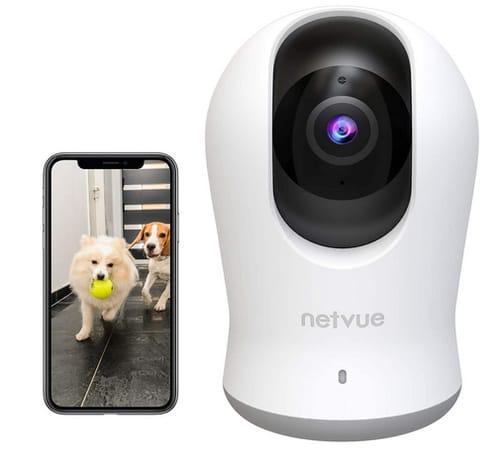 NETVUE 2K 3MP Indoor Camera with 360° 8X PTZ