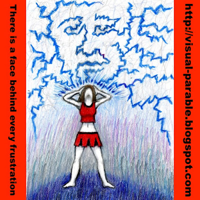 a girl with lightning emanating from her that takes on the form of a face