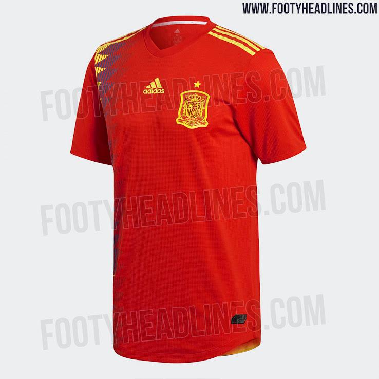 Seragam Piala Dunia 2018 Spanyol