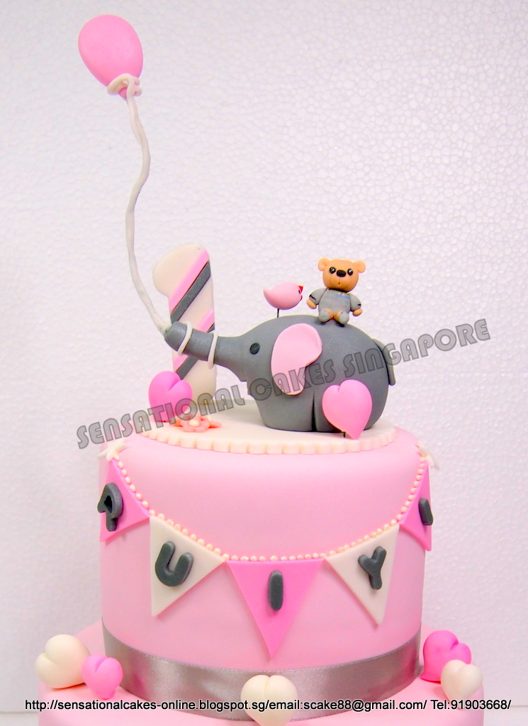 The Sensational Cakes Pink Animals Cake Singapore Cute
