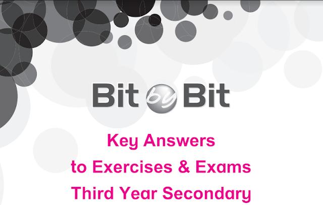 إجابات كتاب الشرح Bit by Bit للثانوية العامة 2019