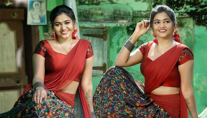 Actress Shalu Shamu In Half Saree Stills