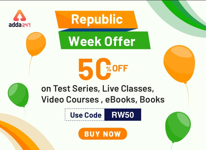 Republic Week Offer!! Get 50% Off on Test Series, Live Classes, Video Courses, eBooks, Books USE Code : RW50