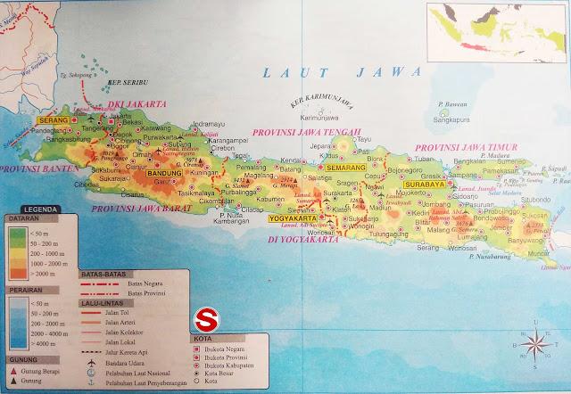 Gambar Peta Atlas Pulau Jawa